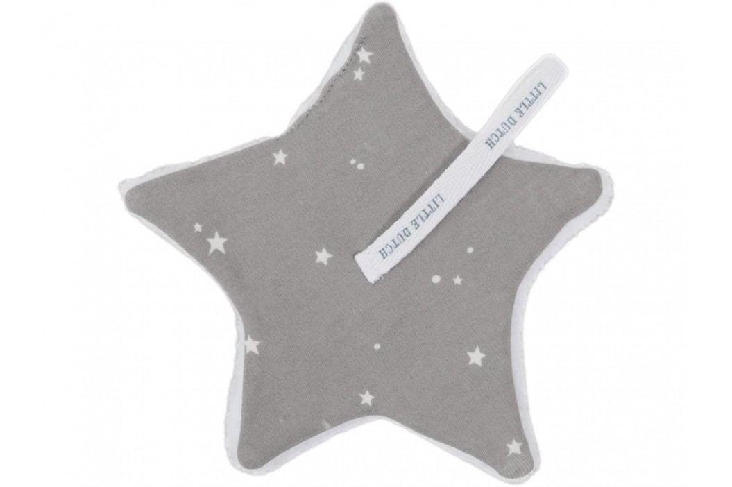 LITTLE DUTCH Little Stars Schnullertuch Grey 15x15cm 3957 Spielzeug
