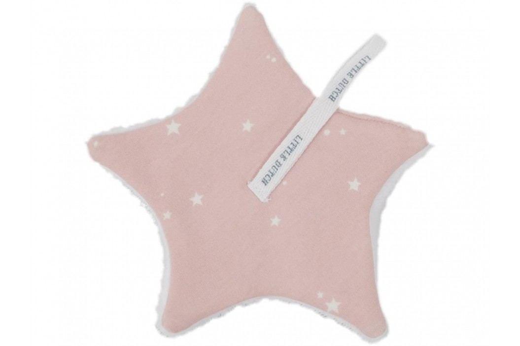 LITTLE DUTCH Little Stars Schnullertuch Pink 15x15cm 3951 Spielzeug