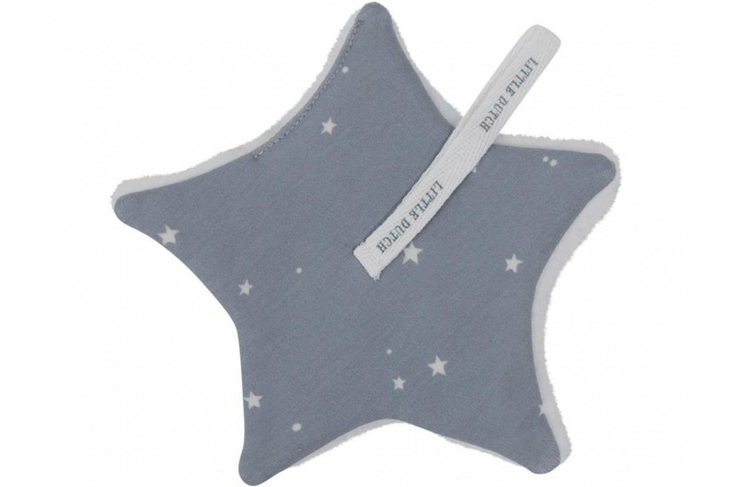 LITTLE DUTCH Little Stars Schnullertuch Blue 15x15cm 3949 Spielzeug
