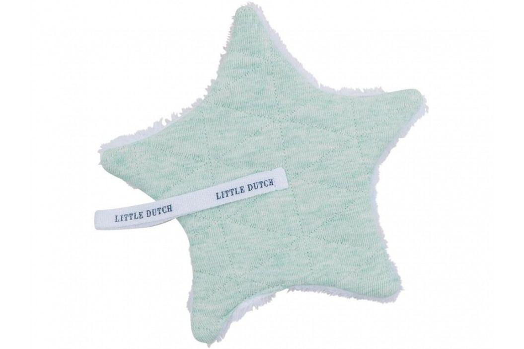 LITTLE DUTCH Melange Schnullertuch Mint 15x15cm 3925 Spielzeug