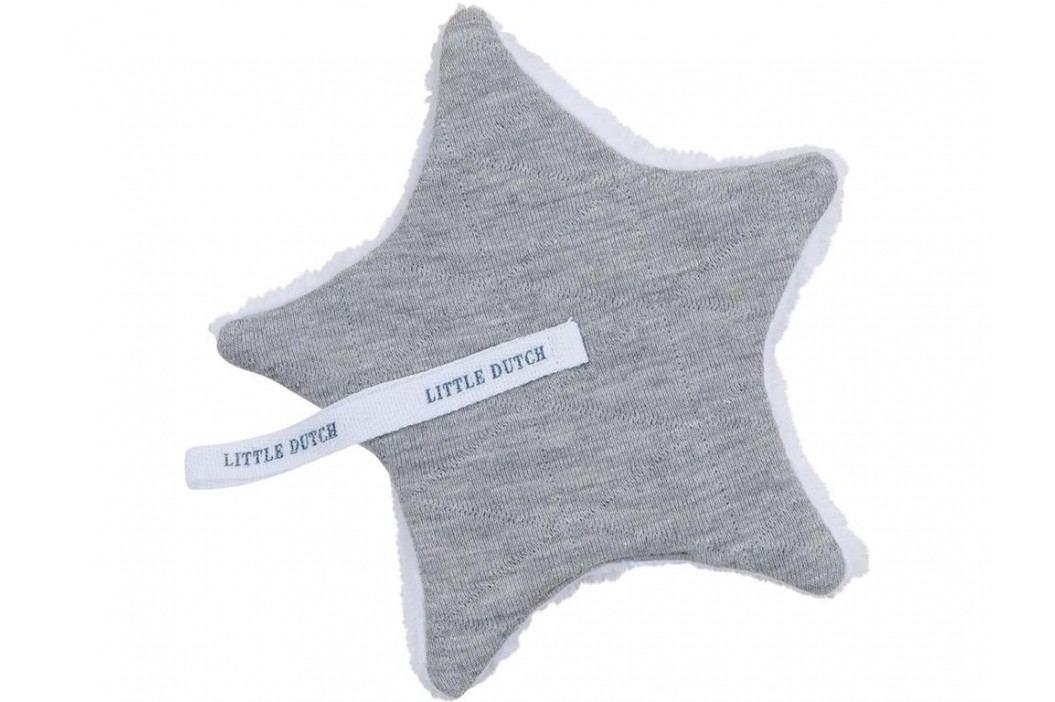 LITTLE DUTCH Melange Schnullertuch Grey 15x15cm 3921 Spielzeug
