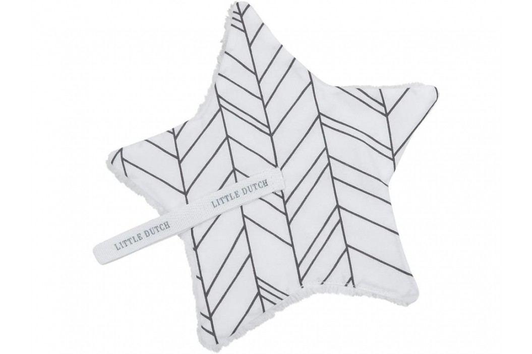 LITTLE DUTCH Leaves Schnullertuch White 15x15cm 3912 Spielzeug