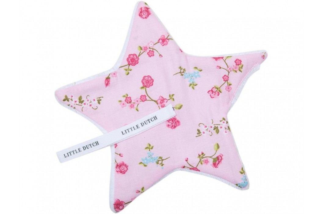 LITTLE DUTCH Pink Blossom Schnullertuch 15x15cm 3901 Spielzeug