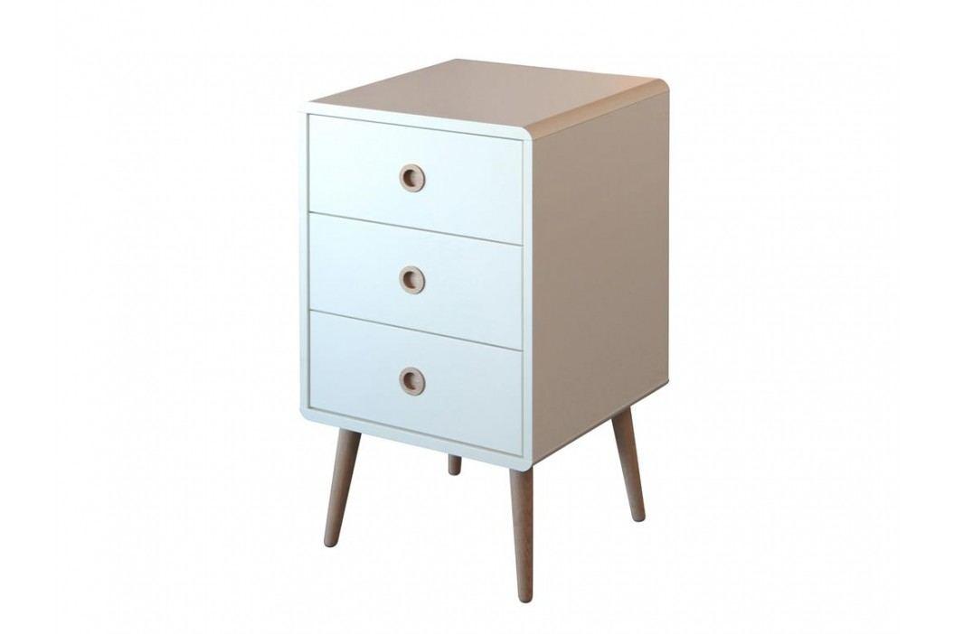 STEENS Nachttisch Softline Weiß mit 3 Schubladen 3600030050000F Nachttische