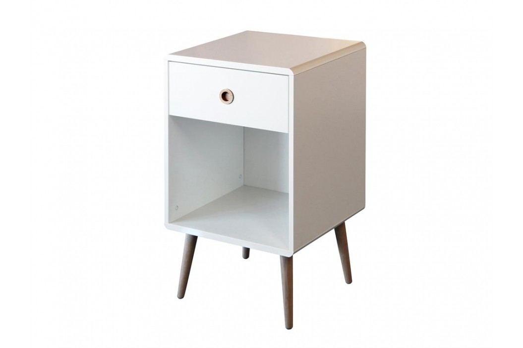 STEENS Nachttisch Softline Weiß mit 1 Schublade 3600010050000F Nachttische