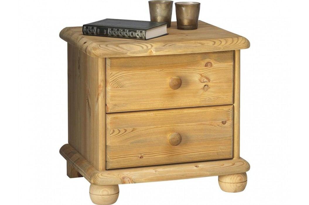 STEENS Nachttisch auf Kugelfüßen mit 2 Schubladen 2022020019000N Nachttische