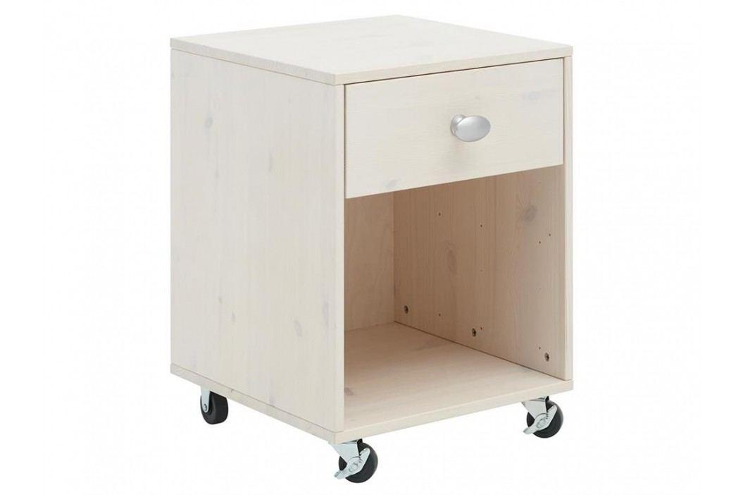 LIFETIME Original Rollcontainer Weiß 155-01W Nachttische