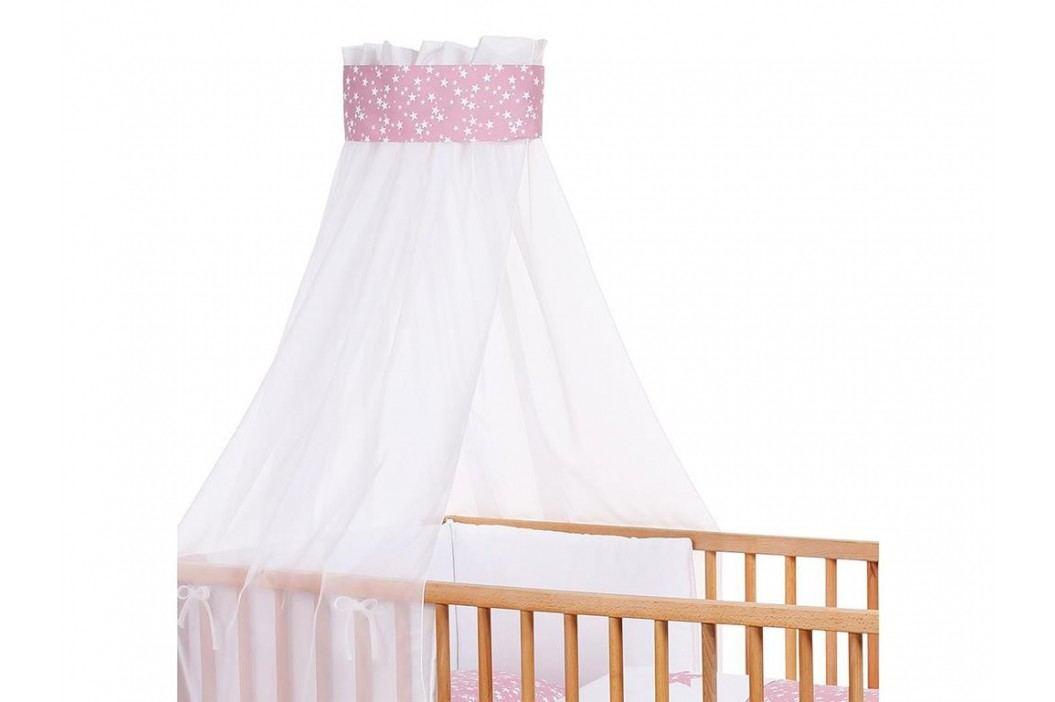 BABYBAY TOBI Babybay Kinderbetthimmel Piqué Weiß mit Band Beere Sterne 410328 Betthimmel