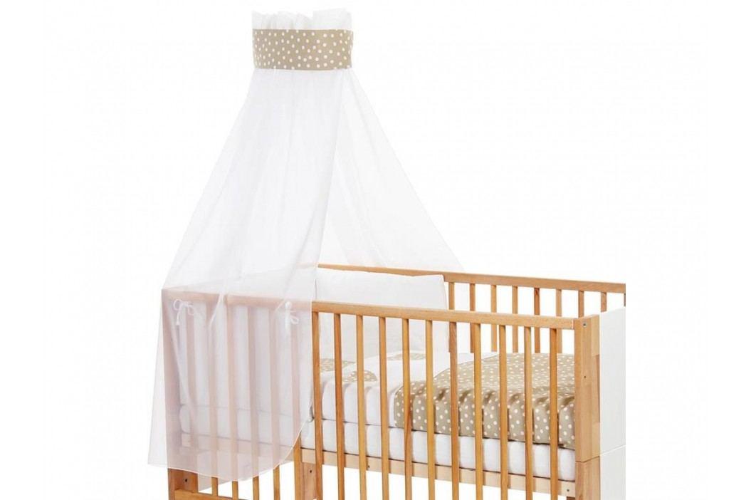 BABYBAY TOBI Betthimmel Weiß Punkte Banderole Sand für Kinderbett Babybay 400736 Betthimmel