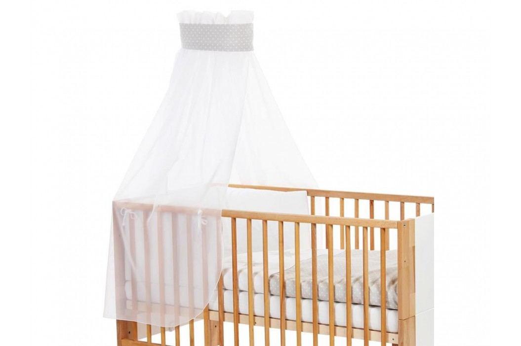 BABYBAY TOBI Betthimmel Weiß mit grauer Stern Banderole für Kinderbett Babybay 400722 Betthimmel