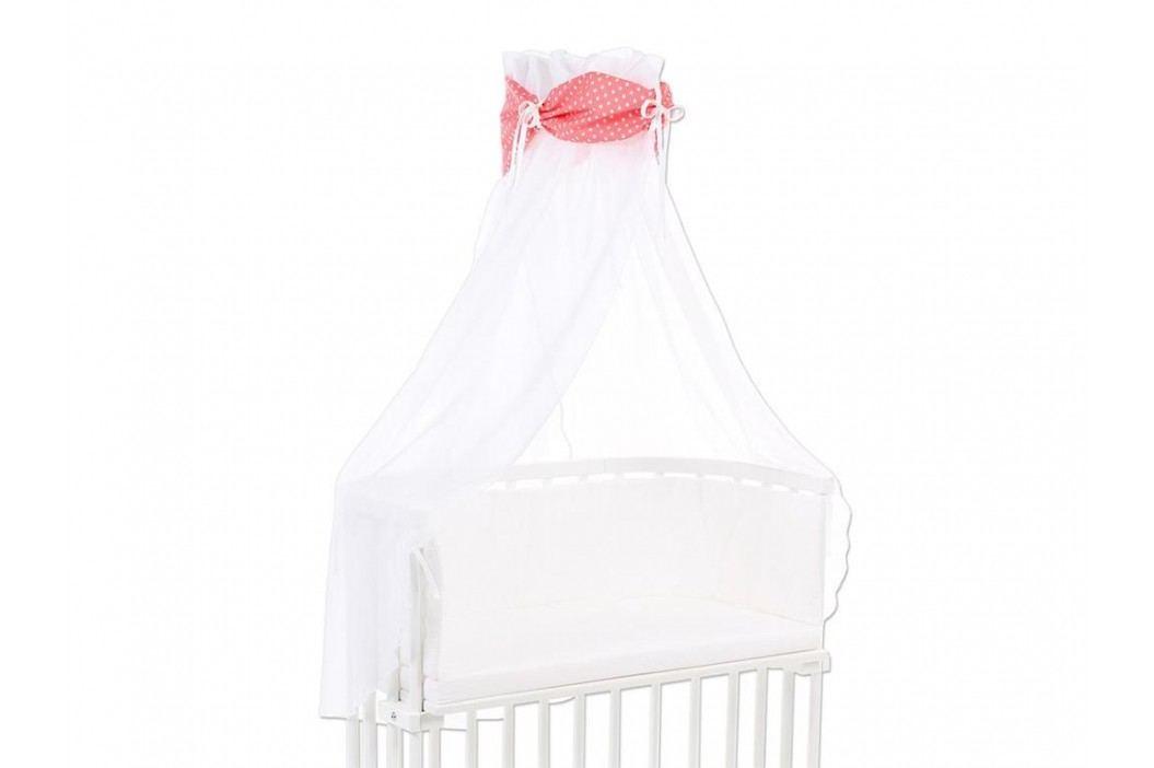 BABYBAY TOBI Betthimmel Weiß mit pfirsich Stern Banderole für alle Babybay Modelle 100355 Betthimmel