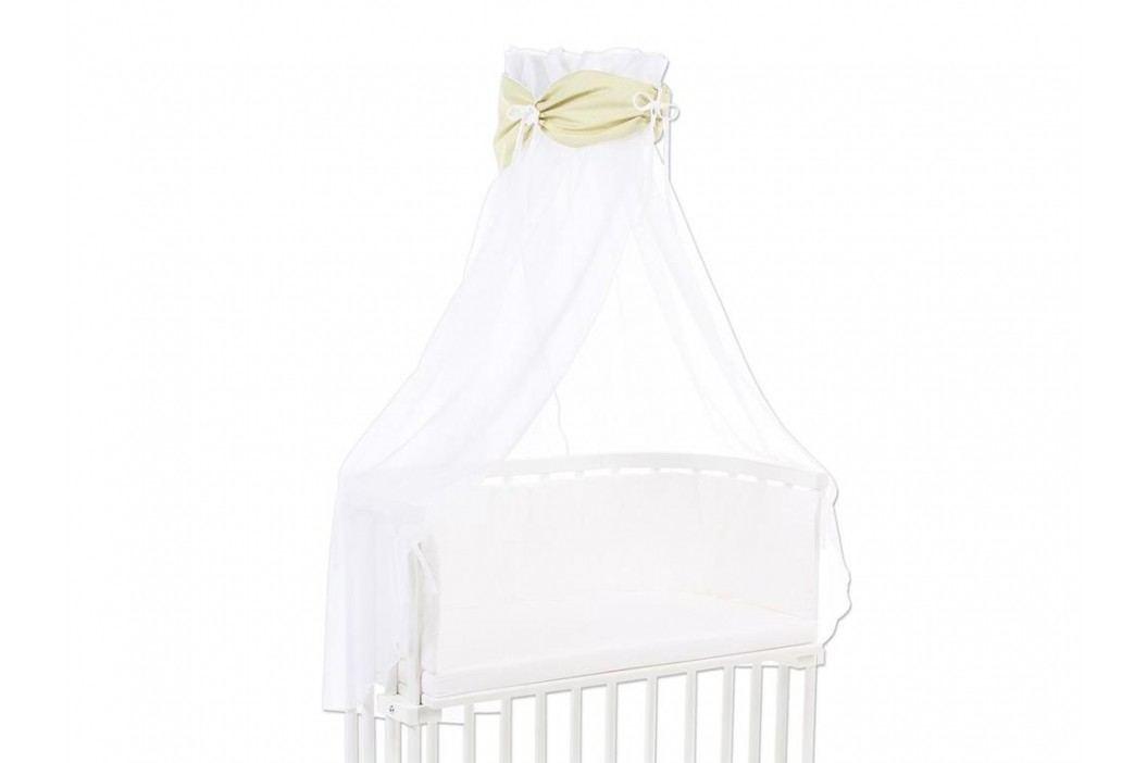 BABYBAY TOBI Betthimmel Weiß mit lindgrüner Punkte Banderole für alle Babybay Modelle 100354 Betthimmel
