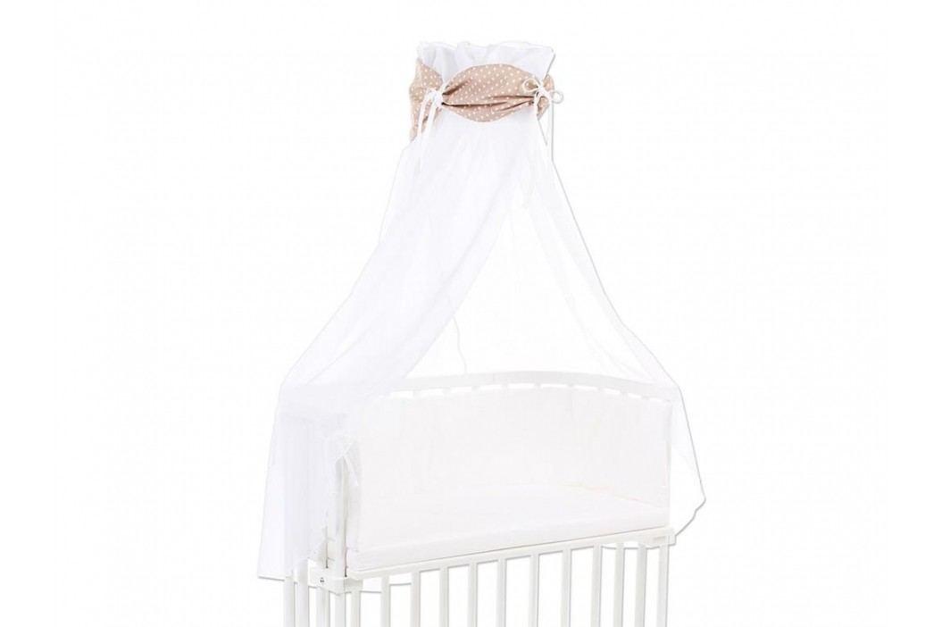 BABYBAY TOBI Betthimmel Weiß mit hellbrauner Stern Banderole für alle Babybay Modelle 100350 Betthimmel