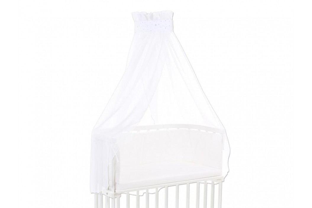 BABYBAY TOBI Betthimmel Weiß mit sand/azurblauer Stern Banderole für alle Babybay Modelle 100331 Betthimmel