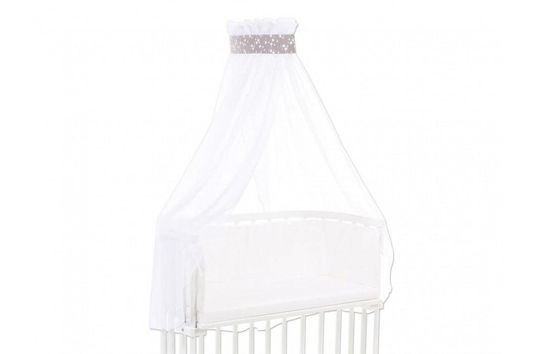 BABYBAY TOBI Betthimmel Weiß mit taupe Stern Banderole für alle Babybay Modelle 100327 Betthimmel
