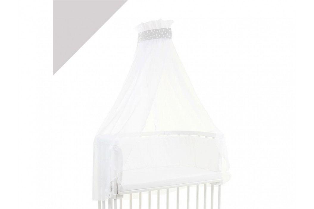 BABYBAY TOBI Betthimmel Weiß mit weißer Punkte Banderole für alle Babybay Modelle 100316 Betthimmel