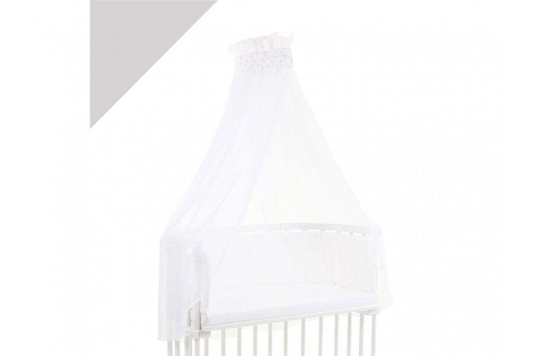 BABYBAY TOBI Betthimmel Weiß mit weißer Stern Banderole für alle Babybay Modelle 100315 Betthimmel