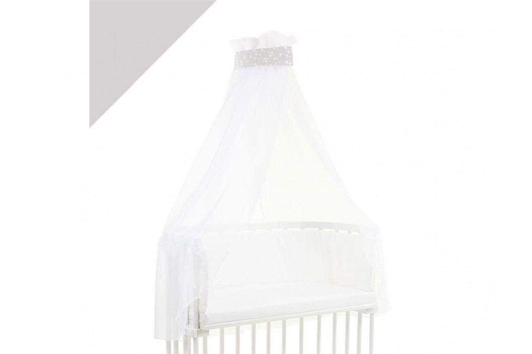 BABYBAY TOBI Betthimmel Weiß mit grauer Stern Banderole für alle Babybay Modelle 100314 Betthimmel