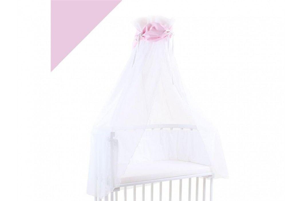 BABYBAY TOBI Betthimmel Weiß mit rosa Schleife für alle Babybay Modelle 100310 Betthimmel