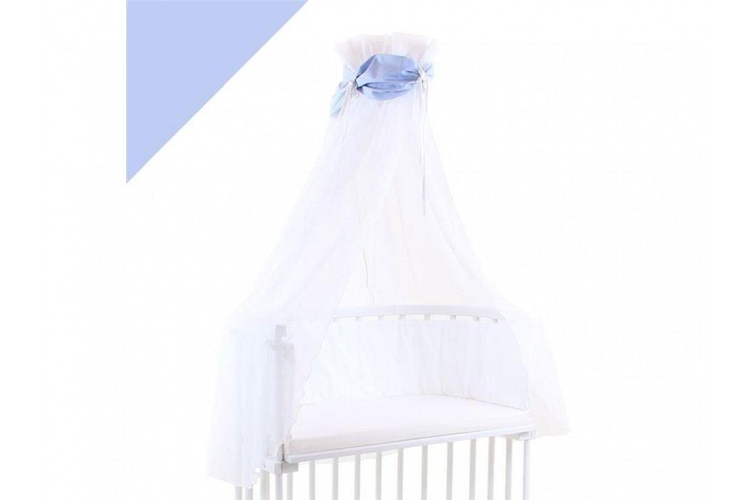 BABYBAY TOBI Betthimmel Weiß mit blauer Schleife für alle Babybay Modelle 100308 Betthimmel