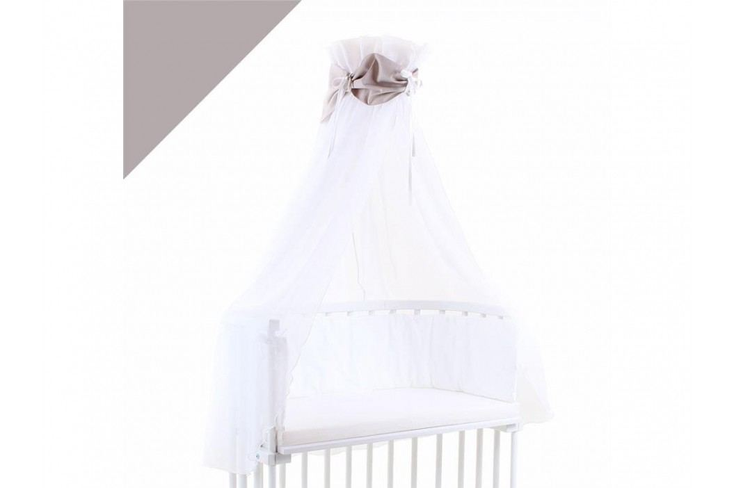 BABYBAY TOBI Betthimmel Weiß mit beiger Schleife für alle Babybay Modelle 100306 Betthimmel