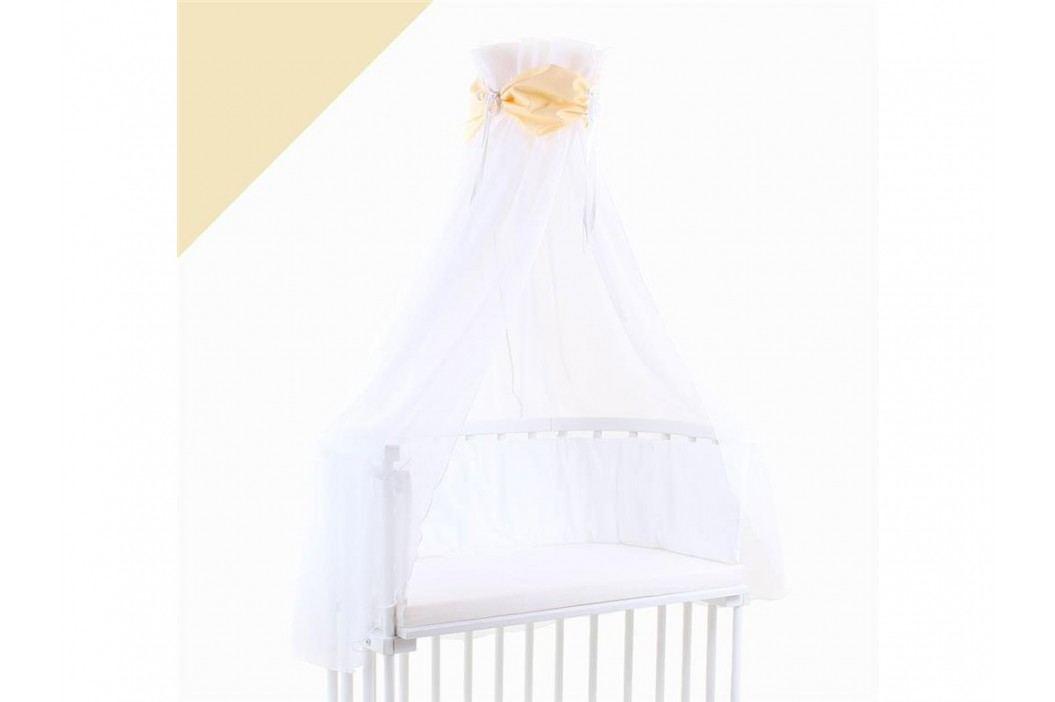 BABYBAY TOBI Betthimmel Weiß mit gelber Schleife für alle Babybay Modelle 100305 Betthimmel