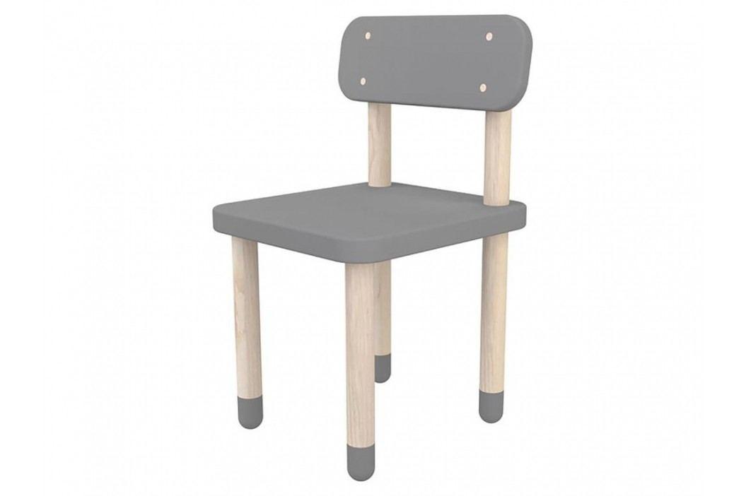 FLEXA Play Stuhl mit Rückenlehne Grau 82-10059-65 Kinderstühle