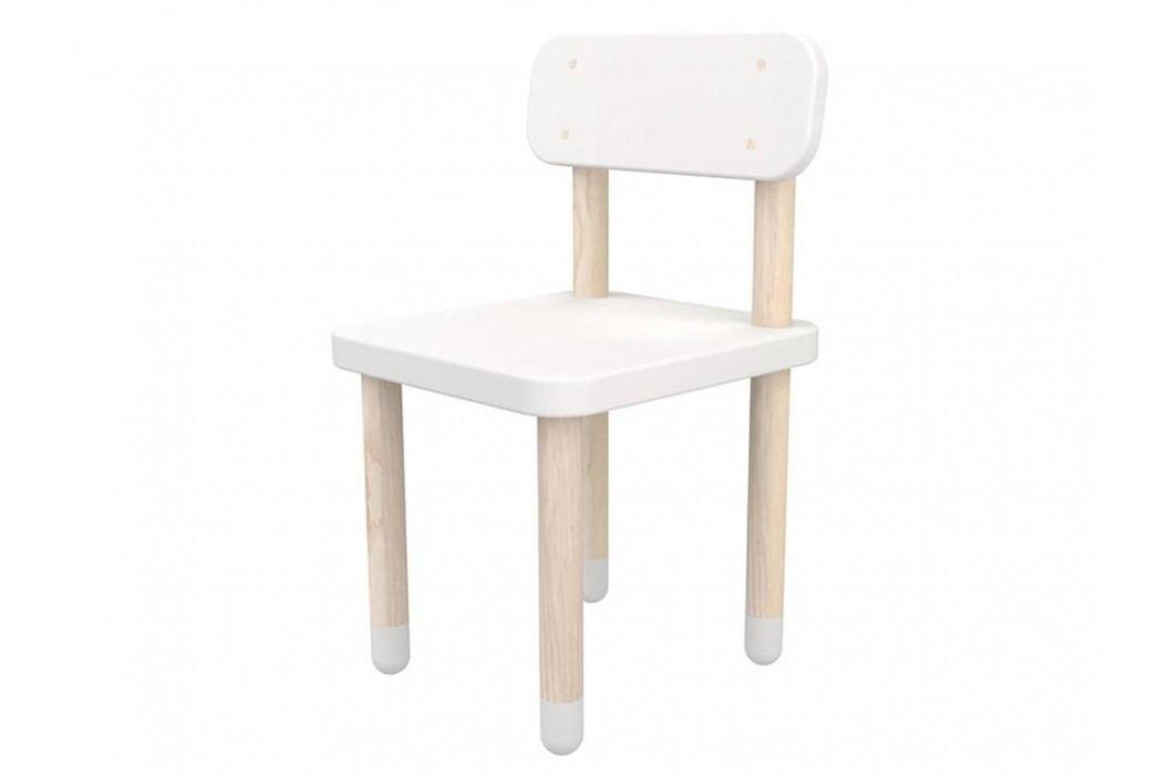 FLEXA Play Stuhl mit Rückenlehne Weiß 82-10059-40 Kinderstühle