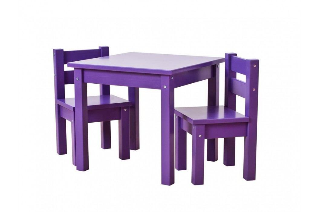 HOPPEKIDS MADS Kinder Sitzgruppe 3-Teilig 2Stühle - 1 Tisch Lila 36-1025-86 Kinderstühle