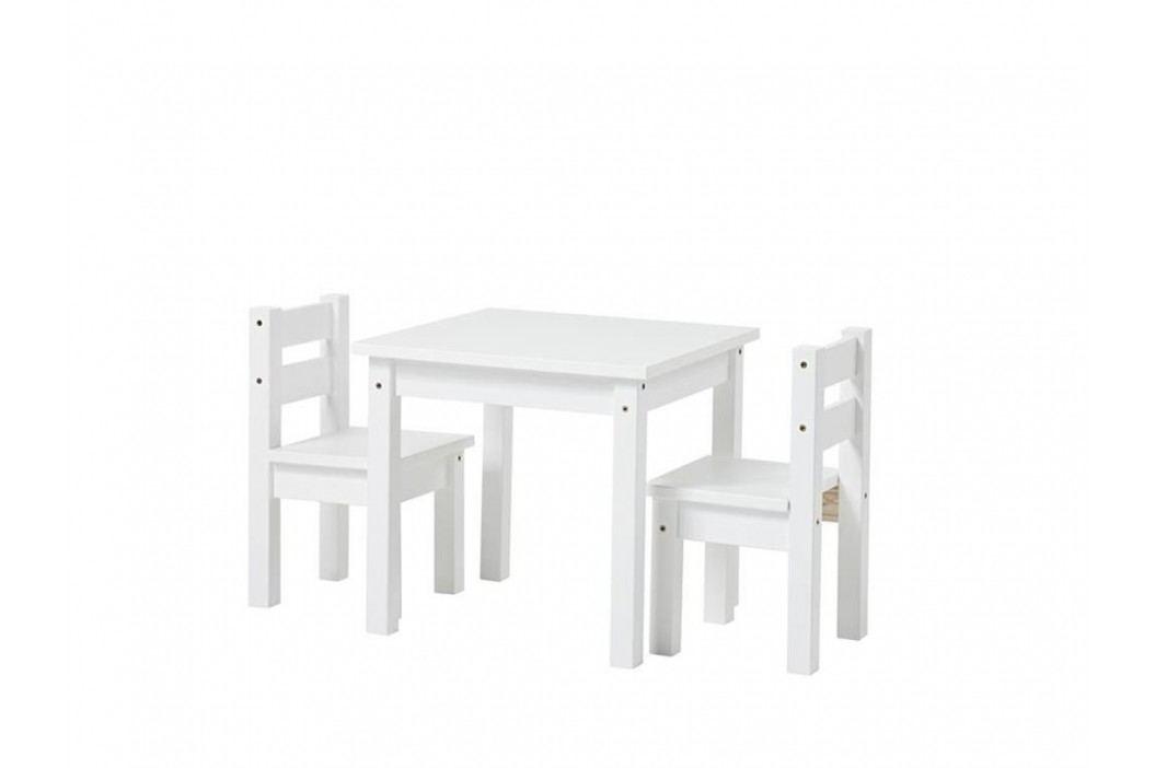HOPPEKIDS Kinder Sitzgruppe 3-Teilig 2Stühle - 1 Tisch Weiß 36-1025-82 Kinderstühle