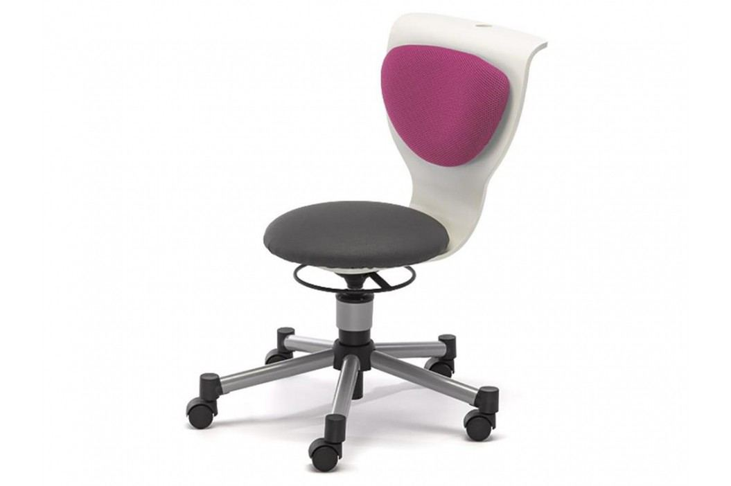 ORGOO Drehstuhl fit Rückenkissen Pink Höhenverstellbar 37- 49cm 770775 Kinderstühle