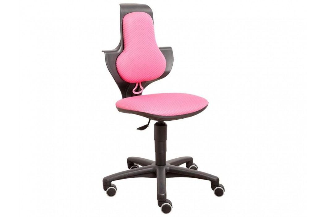 FLEXA Drehstuhl Study in Rosa-Schwarz mit ergonomischer Sitzfläche 82-10054 Kinderstühle