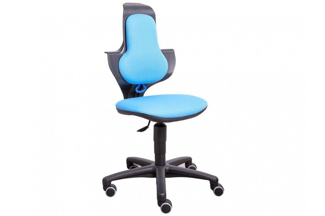 FLEXA Drehstuhl Study in Türkis-Schwarz mit ergonomischer Sitzfläche 82-10053 Kinderstühle