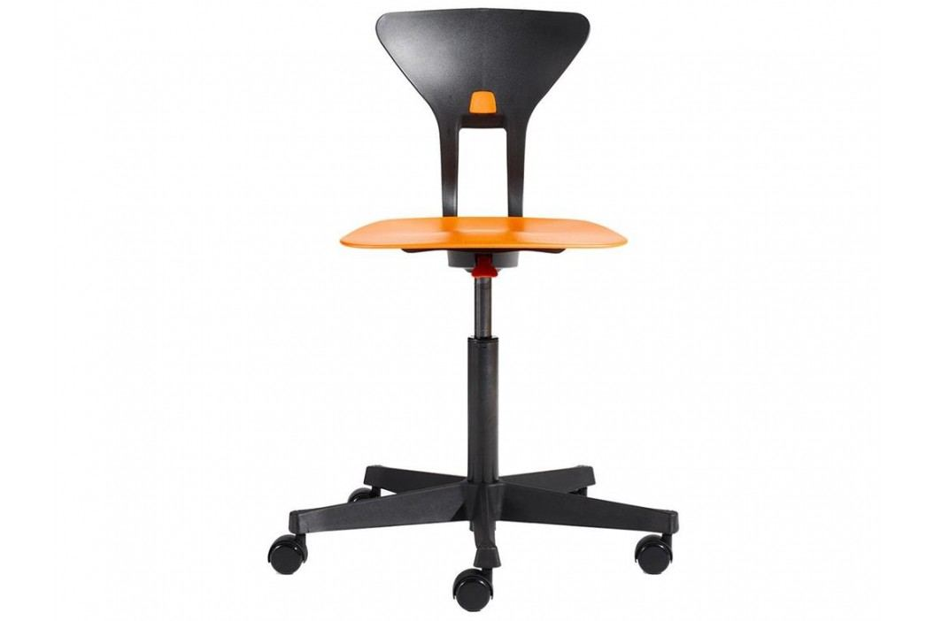 FLEXA Drehstuhl Ray in Orange-Schwarz mit ergonomischer Sitzfläche 82-10036 Kinderstühle