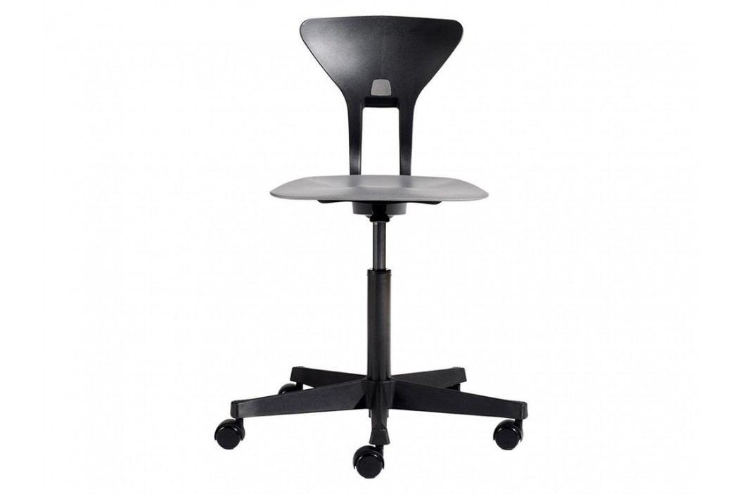 FLEXA Drehstuhl Ray in Schwarz mit ergonomischer Sitzfläche 82-10034 Kinderstühle