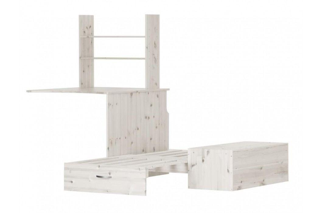 FLEXA BASIC Trendy Unterbau Casa für Hochbett Weiß 81-06704-2 Kinderbetten