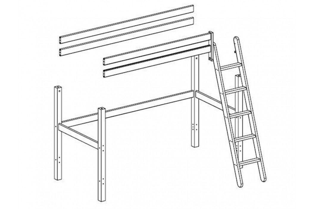FLEXA BASIC Trendy Baukomponente für Hochbett mit Schräger Leiter 80-16502-2 Kinderbetten