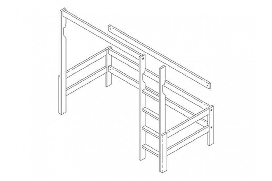 LIFETIME Original Bausatz für Hochbett mit gerader Leiter Höhe: 177cm 640-GREY Kinderbetten