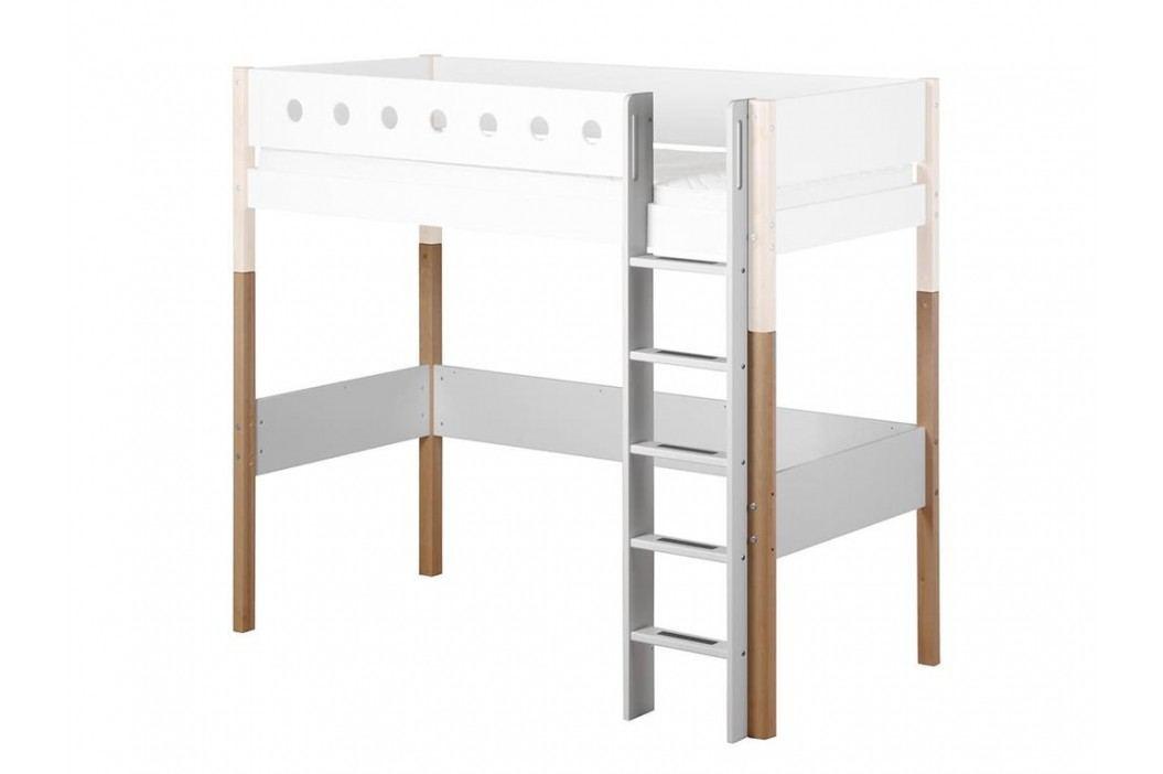 FLEXA White Umbausatz für Hochbett 90x200cm Gerade Leiter und Pfosten 80-17508-95 Kinderbetten