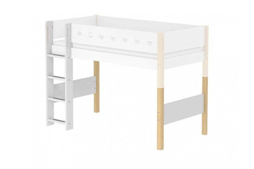 FLEXA White Umbausatz für Mittelhochbett , gerade Leiter Höhe 143cm 80-17329-95 Kinderbetten