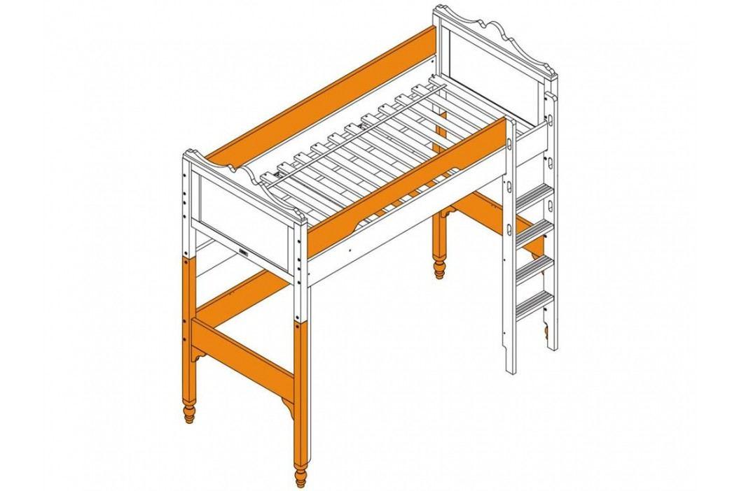 BOPITA Belle Supportset / Umbausatz zum Hochbett XL Weiß 42205511 Kinderbetten