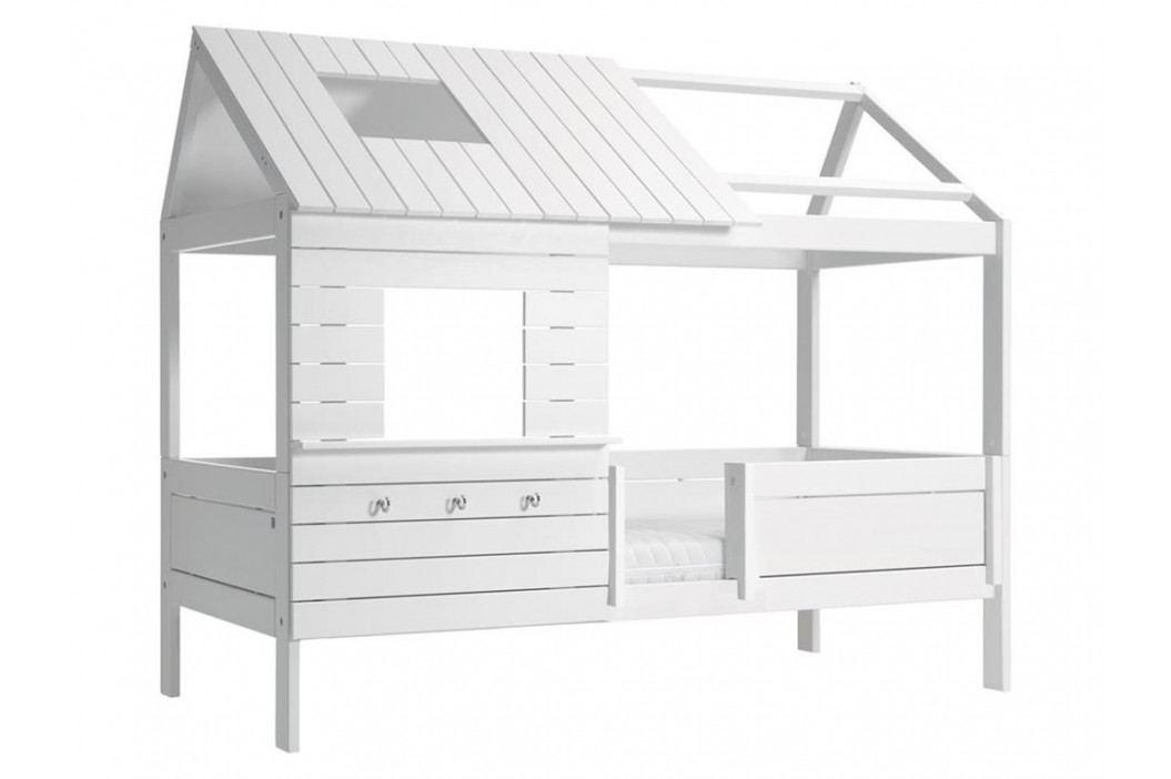 LIFETIME Original Baumhausbett Weiß mit Rollrost Hütte SilverSparkle 46107 46107-10 Kinderbetten