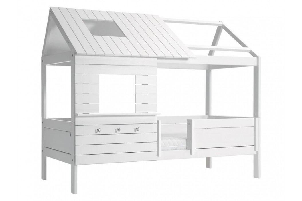 LIFETIME Original Baumhausbett Weiß mit Rollrost Hütte SilverSparkle 46107 46107-01W Kinderbetten