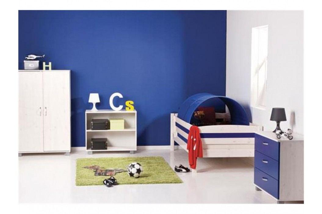 FLEXA BASIC Trendy Jugendbett mit Absturzsicherung vorne und hinten Weiß 80-16104-23 Kinderbetten