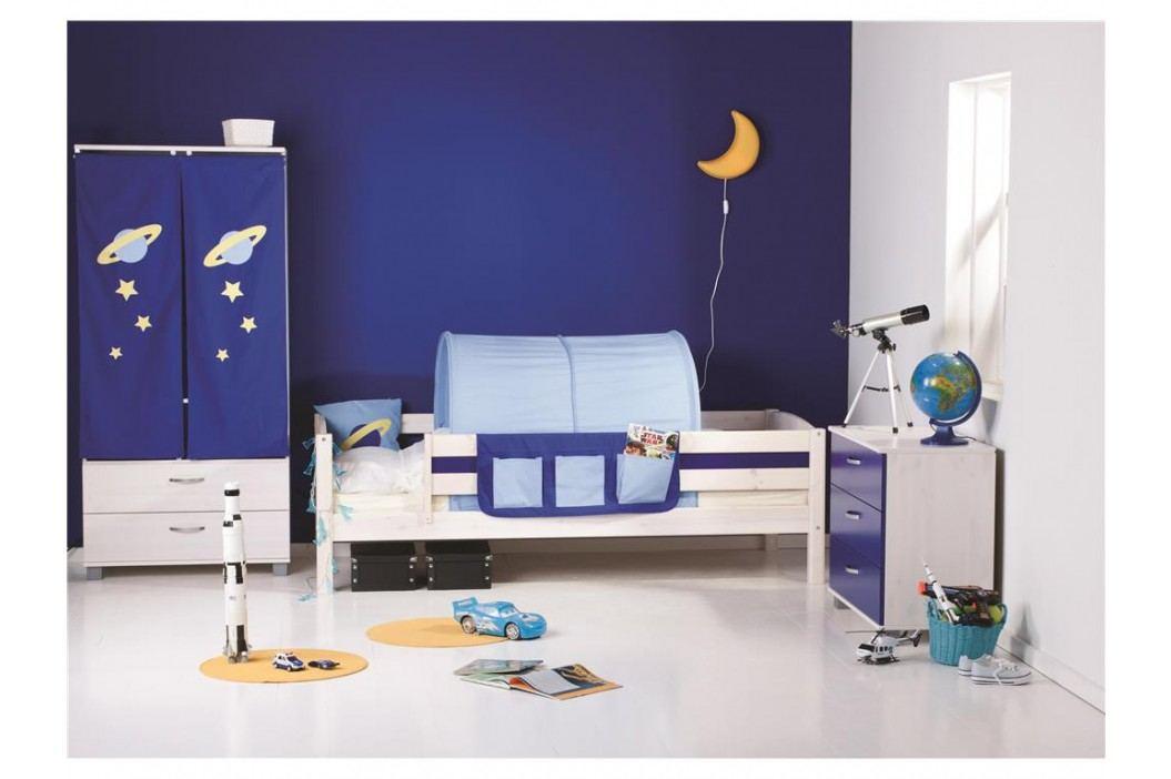 FLEXA BASIC Trendy Bettliege mit Rückenleiste und Seitenfüllung Weiß 80-16103-23 Kinderbetten