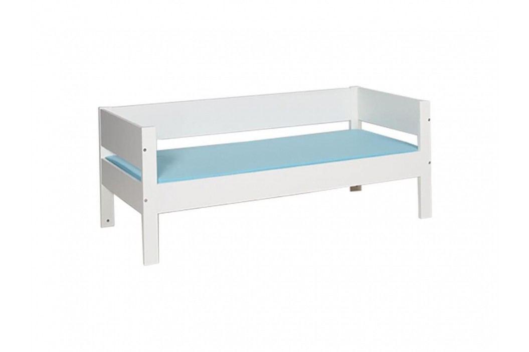MANIS-H Bettliege 90x160cm weiß mit Absturz hinten Huxie Junior 50090-1 Kinderbetten