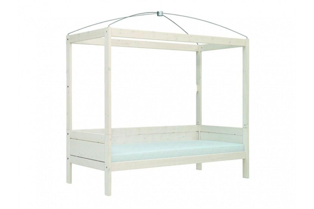 LIFETIME Original Himmelbett Weiß mit Deluxe Lattenrost 46341 46341-01W Kinderbetten
