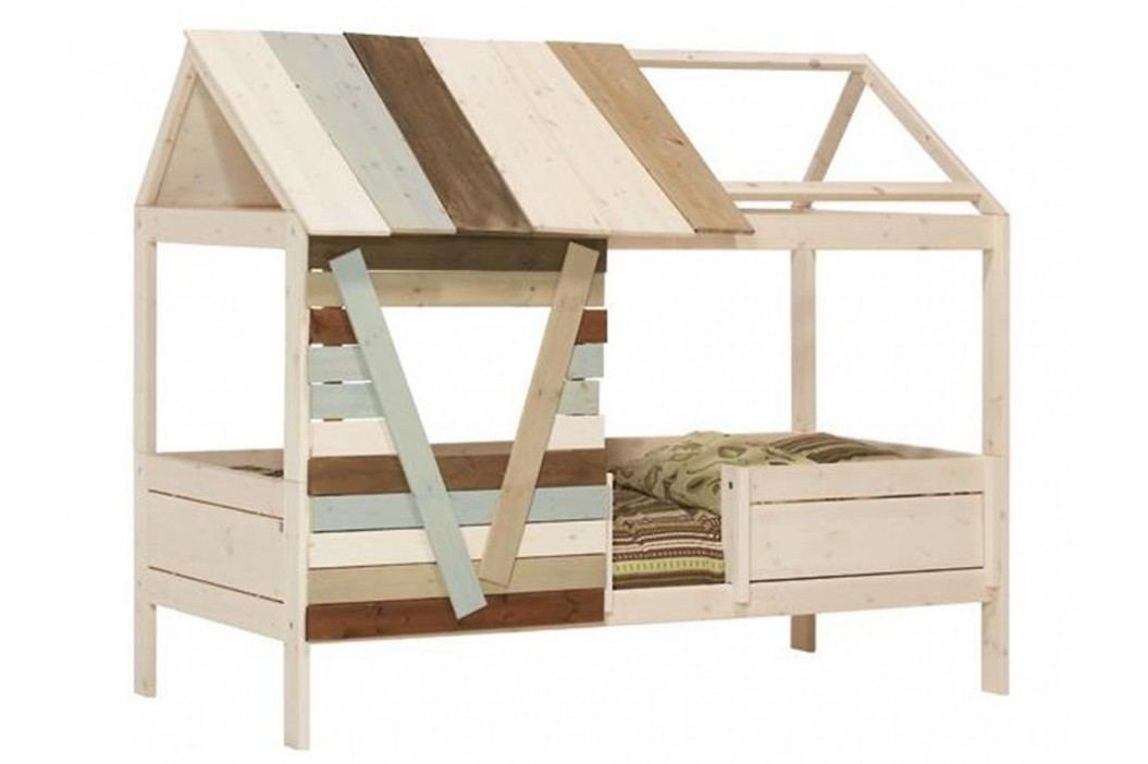 LIFETIME Original Baumhütte mit Rollrost Weiß lasiert Kiefer 46104-01W Kinderbetten