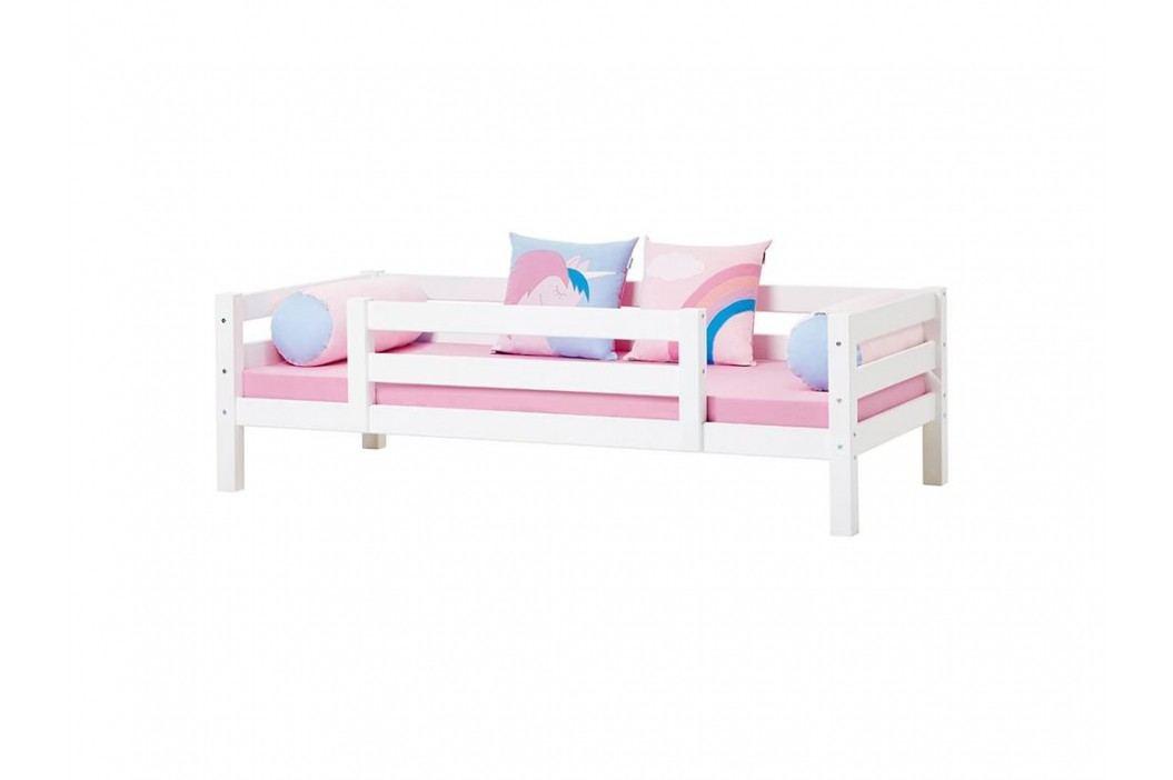 HOPPEKIDS Premium Sofabett mit Lattenrost 1/2 Absturzsicherung und Rückenleiste Kinderbetten