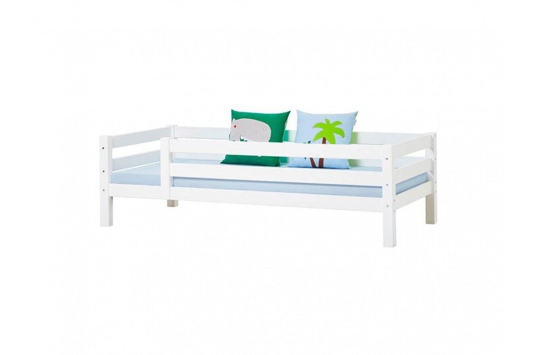 HOPPEKIDS Premium Sofabett mit Lattenrost Rückenleiste und 3/4 Absturzsicherung Kinderbetten